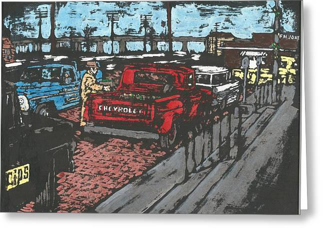 Tuscola Illinois Greeting Card by Dick Gallagher