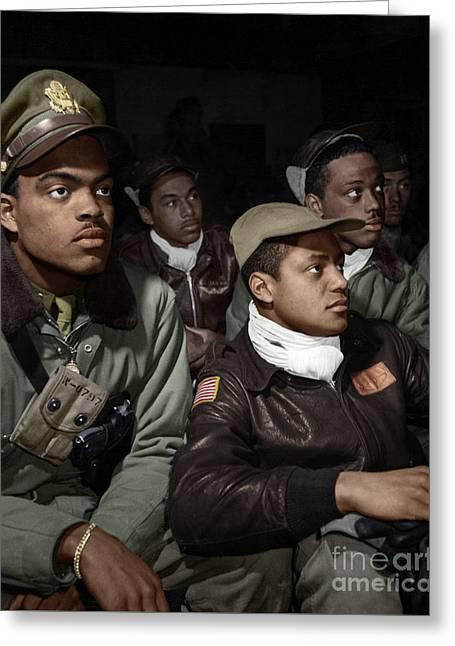 Tuskeegee Airmen, 1945 Greeting Card by Granger