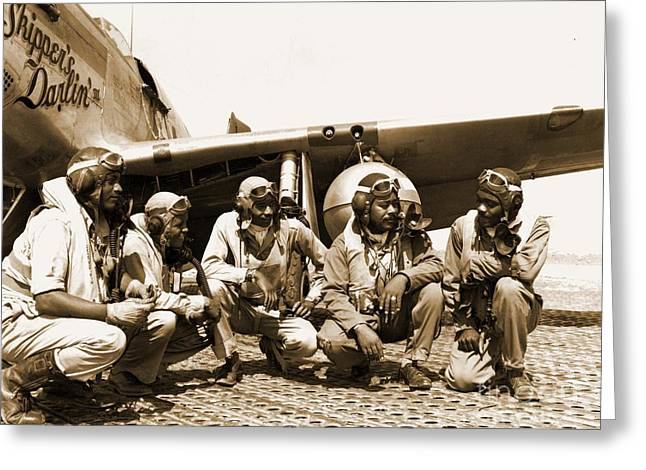 Tuskegee Airmen Greeting Card by Pd