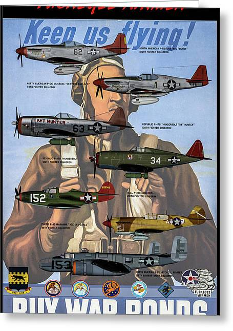 Tuskegee Airmen Poster Greeting Card by Tommy Anderson