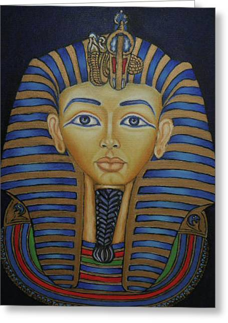 Tutankhamun Greeting Card by Margit Armbrust