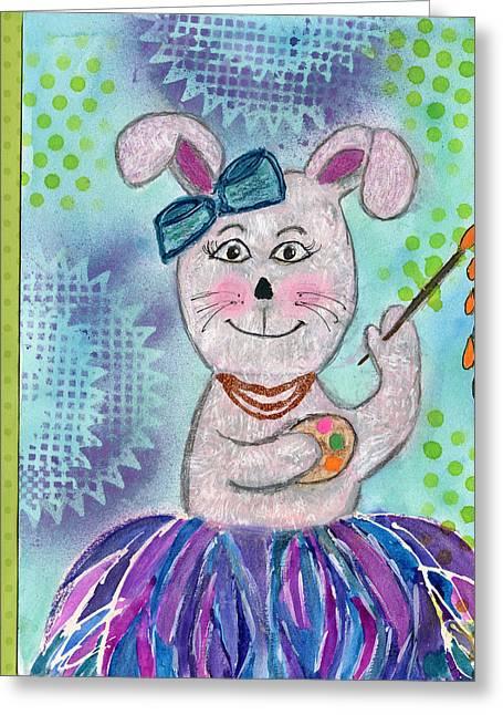 Tutu Bunny Artist Greeting Card