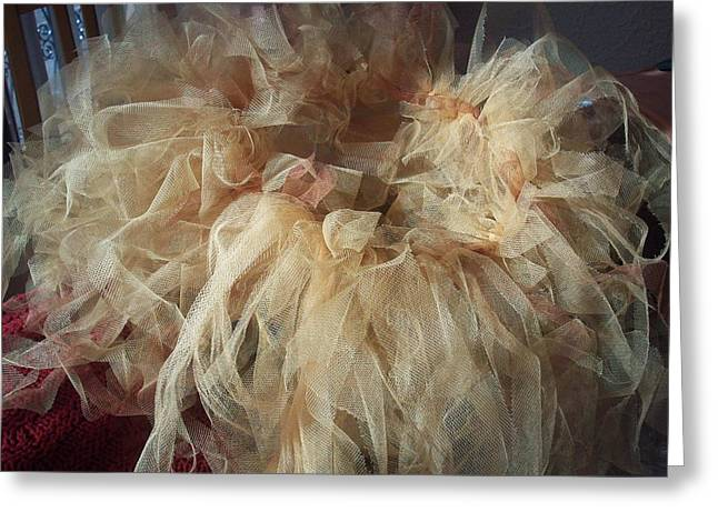 Greeting Card featuring the painting Tutu by Judith Desrosiers
