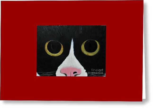 Tux Portrait  Greeting Card