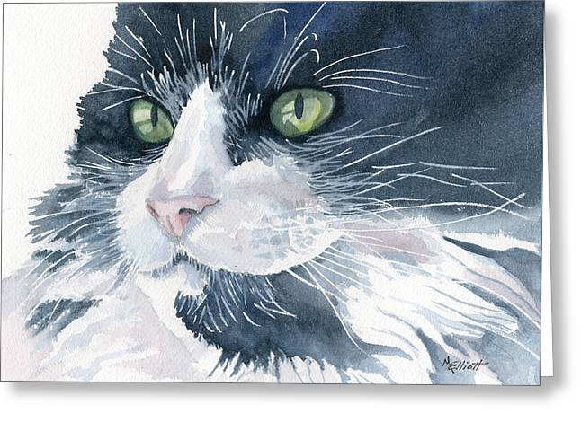 Tuxedo Greeting Card by Marsha Elliott