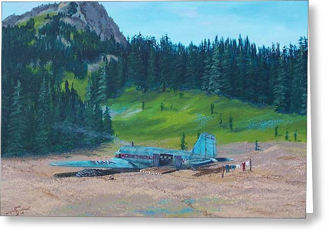 Twa Mountaintop Cabin Greeting Card
