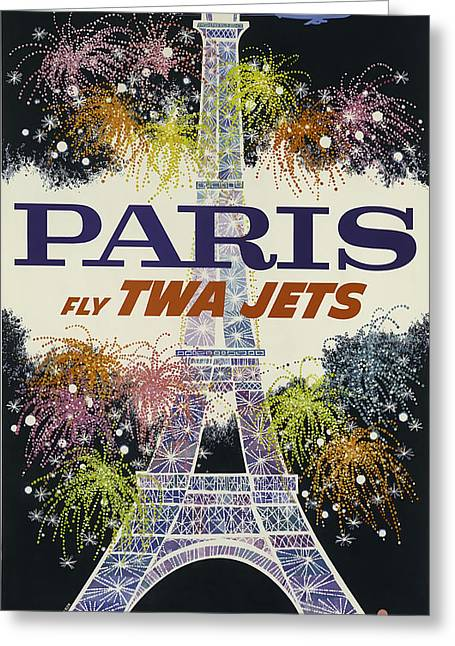 Twa Paris Greeting Card