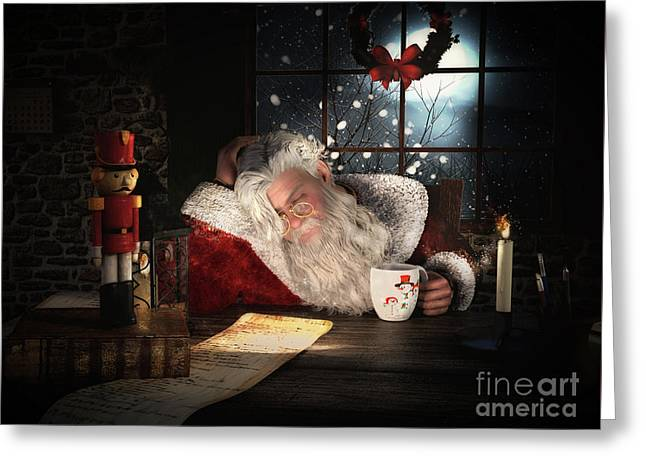 Greeting Card featuring the digital art Twas The Night Before Christmas by Shanina Conway