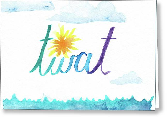Twat Greeting Card by Alicia VanNoy Call