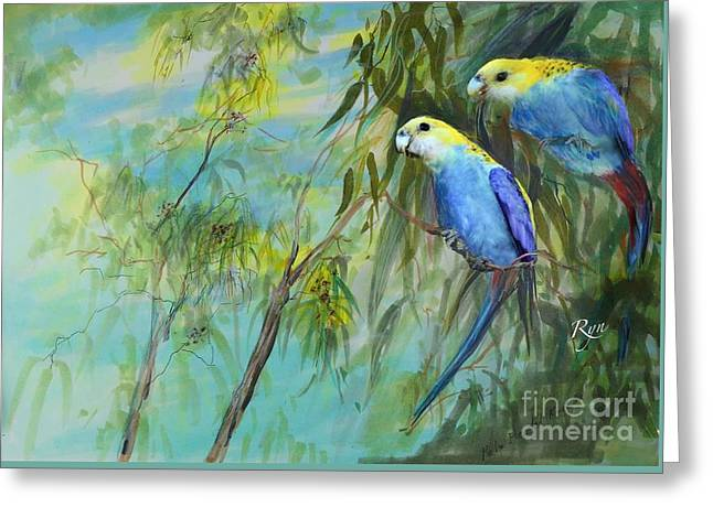 Two Pale-faced Rosellas Greeting Card