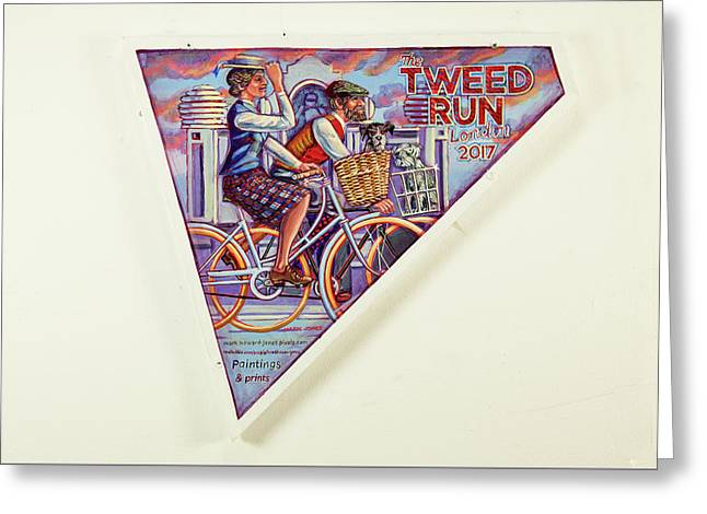 Tweed Run London Princess And Guvnor  Greeting Card