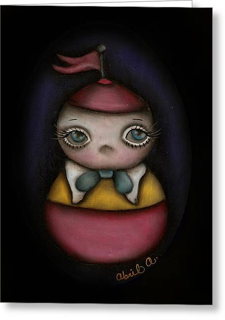 Tweedle Dum Greeting Card by  Abril Andrade Griffith