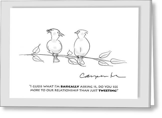 Tweeting Greeting Card