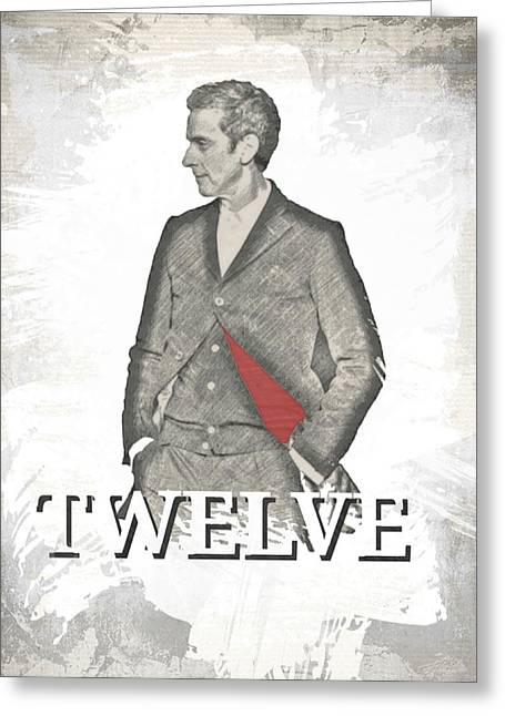 Doctor Who Inspired Twelve  Greeting Card