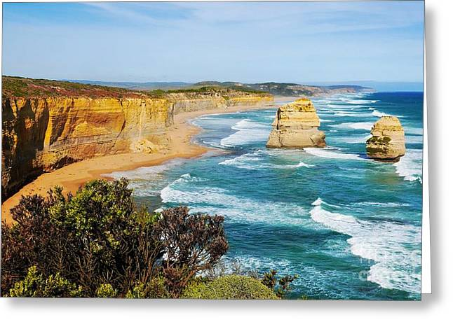 Twelve Apostles Australia Greeting Card by Lexa Harpell