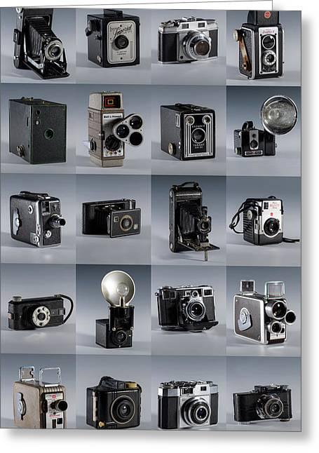 Twenty Old Cameras - Color Greeting Card