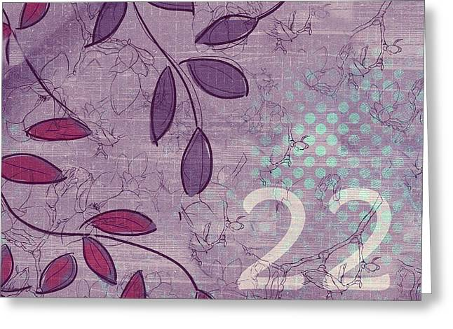 Twenty-two - V34 Greeting Card by Variance Collections
