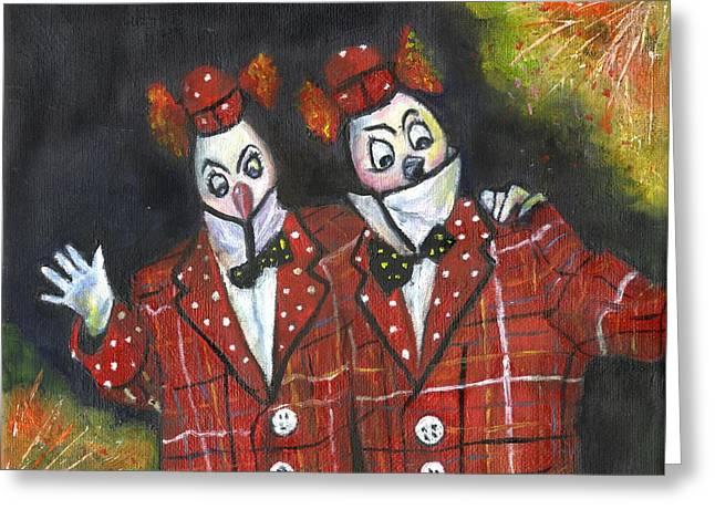 Twiddledee Twiddledum Greeting Card by Olga Kaczmar