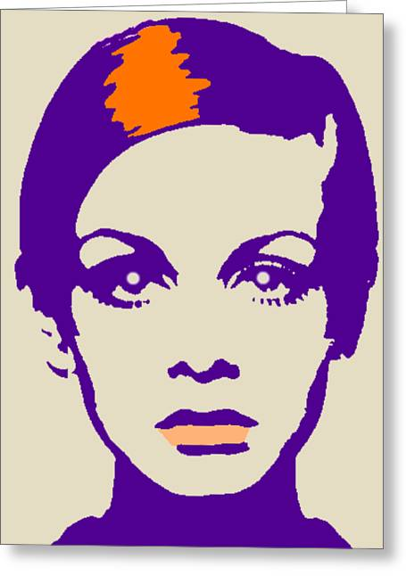 Twiggy 67 Greeting Card by Otis Porritt