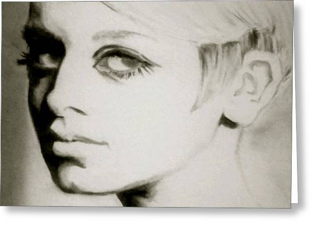 Twiggy  Greeting Card by Amber Harvin