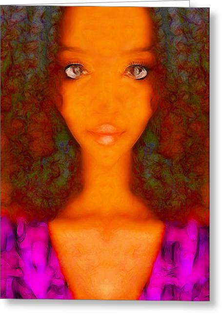 Twiggy Greeting Card by Devalyn Marshall
