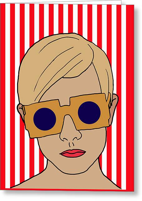 Twiggy Greeting Card by Nicole Wilson