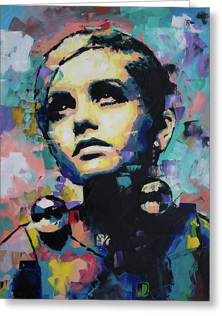 Twiggy Greeting Card by Richard Day