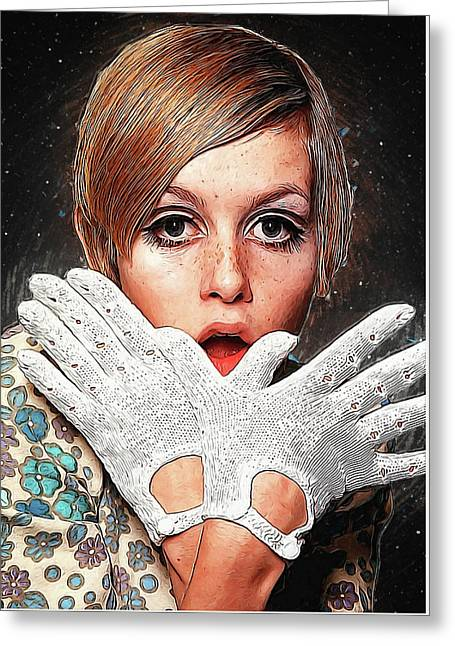 Twiggy Greeting Card by Semih Yurdabak