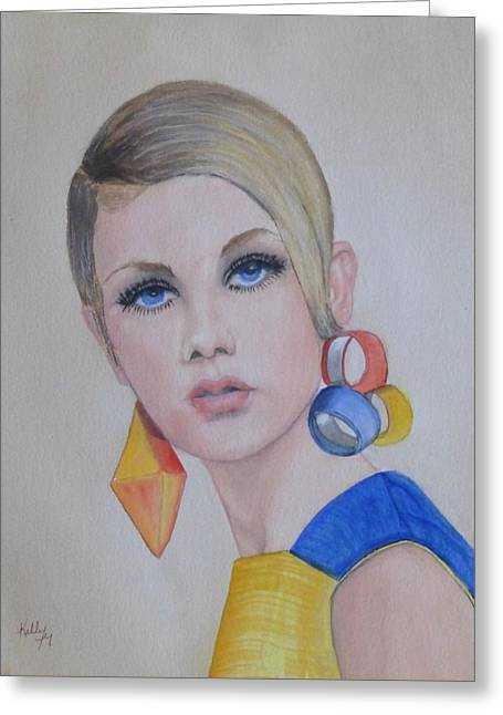 Twiggy The 60's Fashion Icon Greeting Card