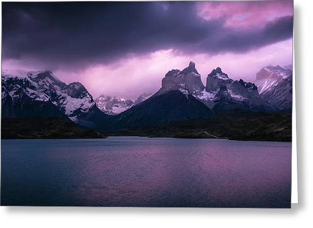 Twilight Over The Lake Greeting Card by Andrew Matwijec