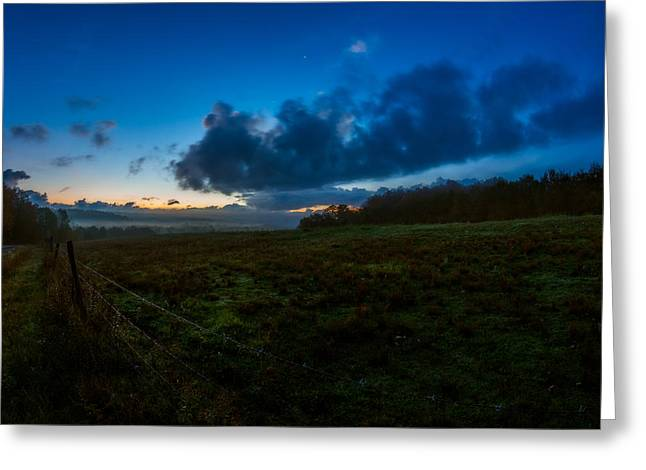 Twilight At Fence Line Greeting Card