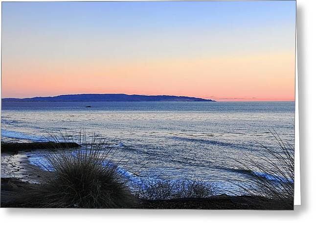 Twilight At Shell Beach Greeting Card by Lorrie Morrison