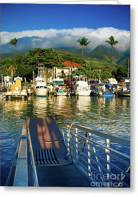 Twilight At The Marina Lahaina Harbour West Maui Hawaii Greeting Card
