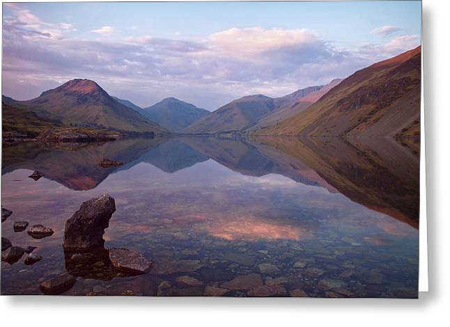 Twilight At Wastwater In Cumbria Greeting Card by Pete Hemington