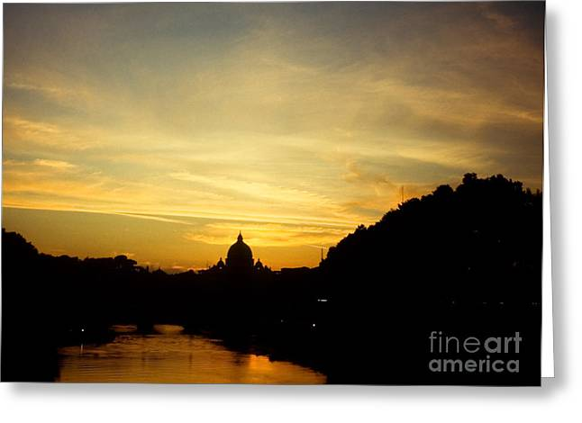 Twilight Behind The Vatican Greeting Card by Fabrizio Ruggeri