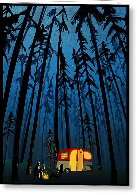 Twilight Camping Greeting Card