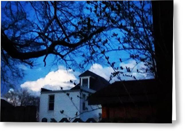 Twilight Capture. Big Puffy Cloud Greeting Card