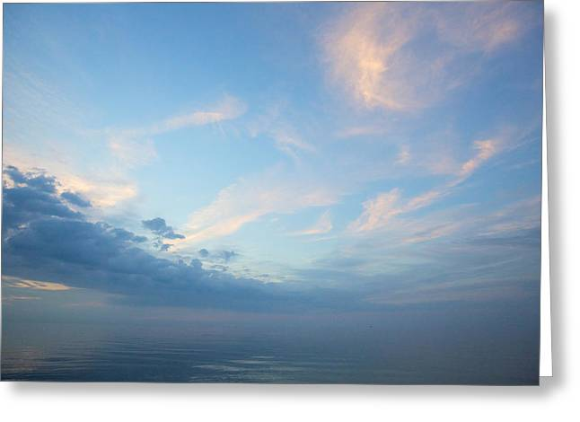 Twilight Clouds Over Lake Superior Greeting Card