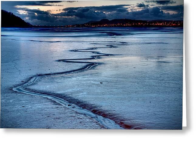 Twilight, Conwy Estuary Greeting Card