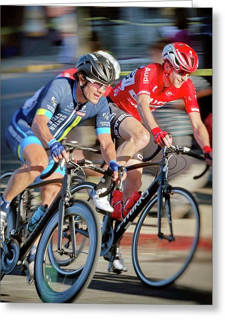 Twilight Criterium Greeting Card by Matthew Ahola