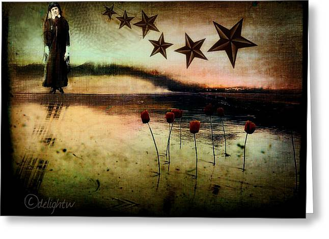 Greeting Card featuring the digital art Twilight by Delight Worthyn