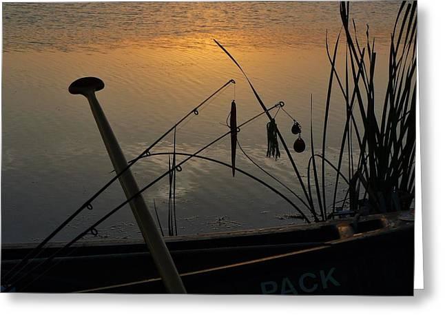 Twilight Is Fishing Light Greeting Card