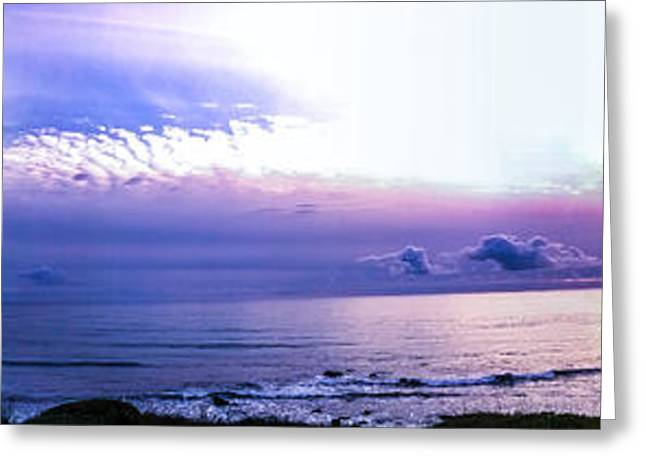 Twilight In Gold Beach Greeting Card