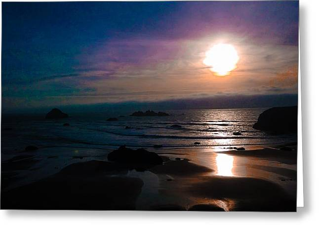 Twilight Low Tide Greeting Card