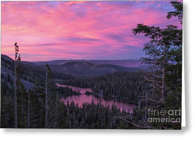 Twilight Mammoth Lakes  Greeting Card