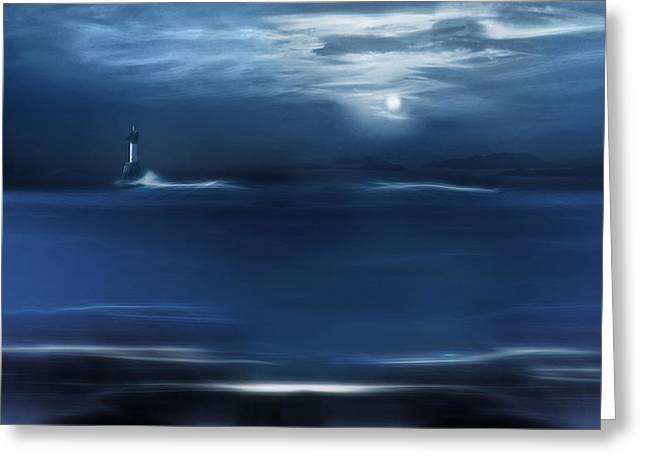 Victoria Johns Greeting Cards - Twilight Moon Greeting Card by John  Poon