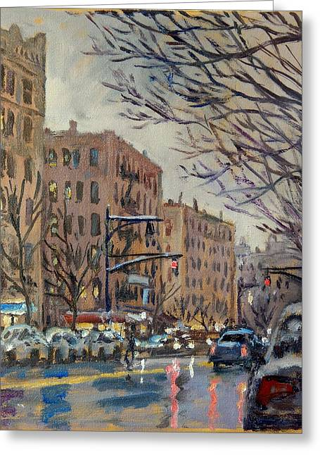 Twilight On Broadway New York City Greeting Card by Thor Wickstrom