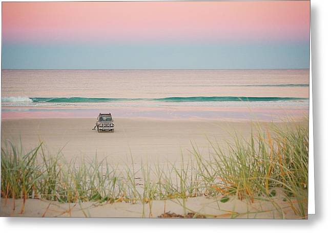 Twilight On The Beach Greeting Card