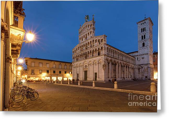 Twilight Over Lucca Greeting Card by Brian Jannsen