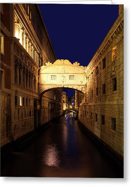 Twilight Over The Bridge Of Sighs Greeting Card
